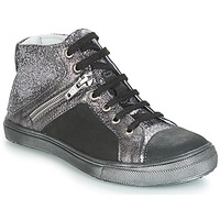 Shoes Girl High top trainers GBB KAMI Black / Silver