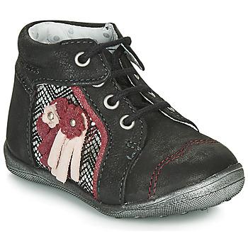 Shoes Girl Mid boots Catimini RAINETTE Ctv / Black-silver