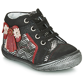 Shoes Girl Mid boots Catimini RHUBARBE Ctv / Black-silver