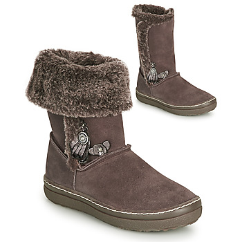 Shoes Girl Boots Catimini ROMA Brown