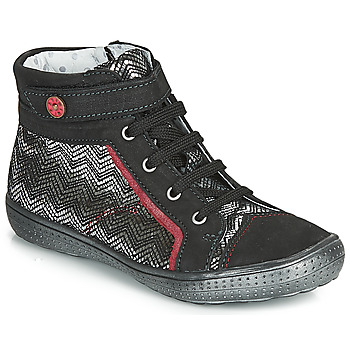 Shoes Girl High top trainers Catimini ROSIERE Black / Silver