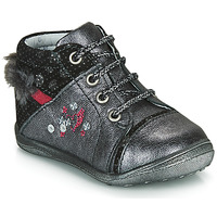 Shoes Girl Mid boots Catimini ROULETTE Grey / Silver