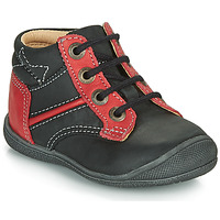Shoes Boy Mid boots Catimini RATON Vte / Black-red / Kimbo