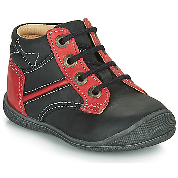 Shoes Boy Mid boots Catimini RATON Black / Red