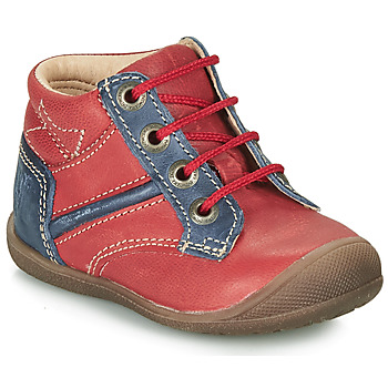 Shoes Boy Mid boots Catimini RATON Vte / Red/blue / Kimbo