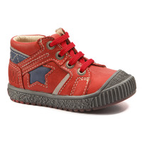 Shoes Boy Mid boots Catimini RENARD Vte / Red/blue / Linux