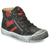 Shoes Boy Mid boots Catimini RAMBOUTAN Vte / Black-red / Linux