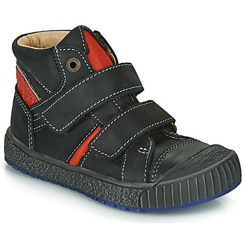 Shoes Boy High top trainers Catimini RAIFORT Black / Red