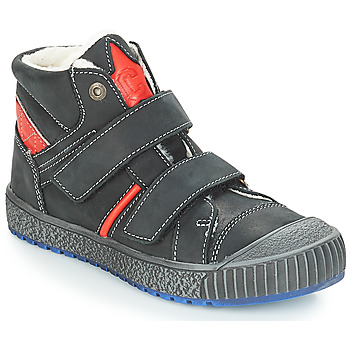 Shoes Boy Mid boots Catimini RAIFORT Vte / Black-red / Linux