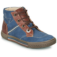 Shoes Boy Mid boots Catimini RUMEX Blue / Brown
