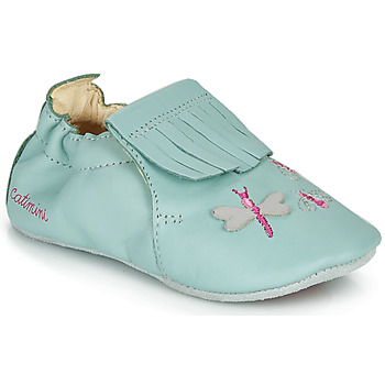 Shoes Girl Slippers Catimini RHIZINE Vte / Green / Water
