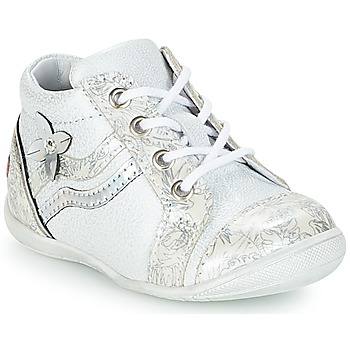 Shoes Girl High top trainers GBB SHINA White / Silver