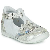 Shoes Girl Ballerinas GBB SELVINA White / Silver