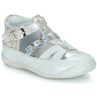 Shoes Girl Sandals GBB SARAH White / Silver