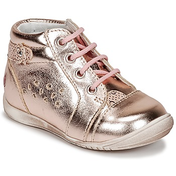 Shoes Girl High top trainers GBB SIDONIE Pink / Gold