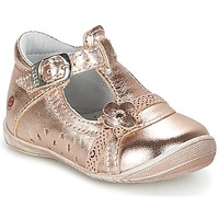 Shoes Girl Ballerinas GBB SIXTINE Pink / Gold