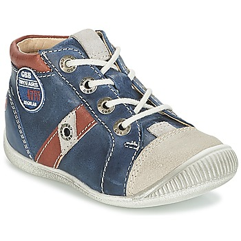 Shoes Boy High top trainers GBB SILVIO Marine / Brown