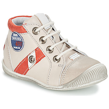 Shoes Boy Mid boots GBB SILVIO Vtc / Beige red