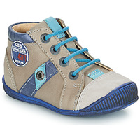 Shoes Boy Mid boots GBB SILVIO Beige / Blue