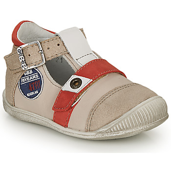 Shoes Boy Sandals GBB STANISLAS Beige / Red
