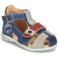 Shoes Boy Sandals GBB SULLIVAN Blue / Beige / Brown