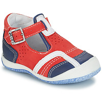 Shoes Boy Mid boots GBB SIGMUND Nuv / Red/blue / Milk