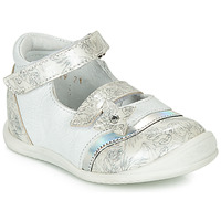 Shoes Girl Ballerinas GBB STACY White / Silver