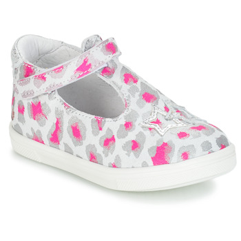 Shoes Girl Ballerinas GBB SABRINA Grey / Pink / White