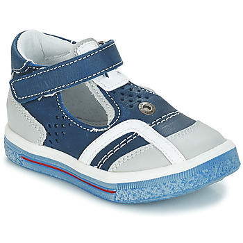 Shoes Girl Ballerinas GBB SALVADORE Blue / Grey