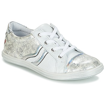 Shoes Girl Low top trainers GBB SHARON White / Silver