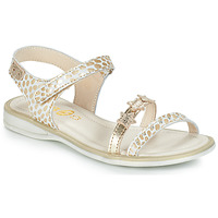 Shoes Girl Sandals GBB SWAN White / Gold