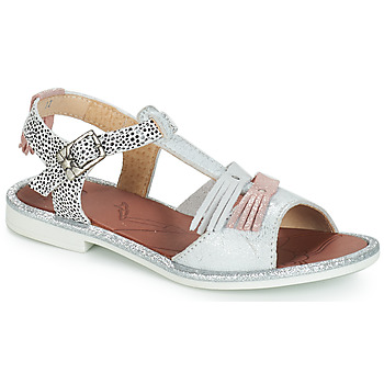 Shoes Girl Sandals GBB MARIA Vte / Silver / Cola