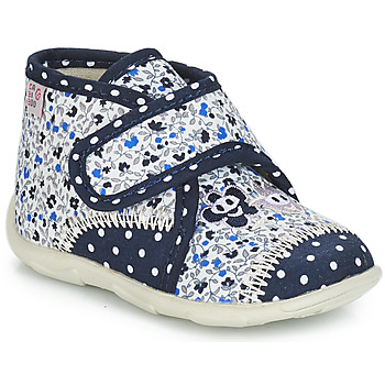 Shoes Girl Slippers GBB PASCALINE Blue / White