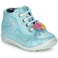 Shoes Girl High top trainers Catimini SALAMANDRE Blue / Silver
