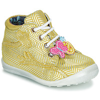 Shoes Girl High top trainers Catimini SALAMANDRE Yellow