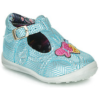 Shoes Girl Mid boots Catimini SOLEIL Vte / Blue-silver