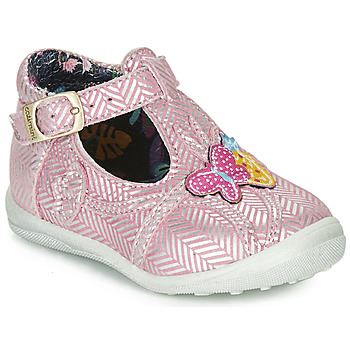 Shoes Girl Mid boots Catimini SOLEIL Vte / Pink/silver