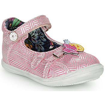 Shoes Girl Ballerinas Catimini SITELLE Vte / Pink/silver