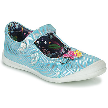 Shoes Girl Ballerinas Catimini SENTINELLE Vte / Blue-silver