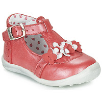 Shoes Girl Mid boots Catimini SALICORNE Vte / Red / Mother-of-pearl