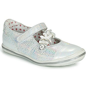 Shoes Girl Ballerinas Catimini STROPHAIRE Vte / Silver