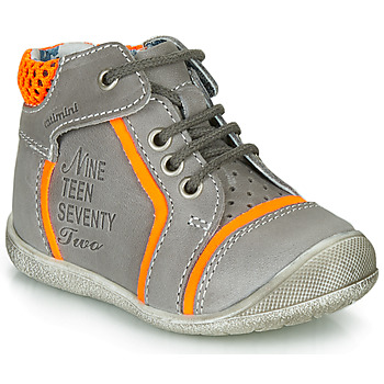 Shoes Boy Mid boots Catimini SEREVAL Nus / Gray orange / Fluorescent / Kimbo