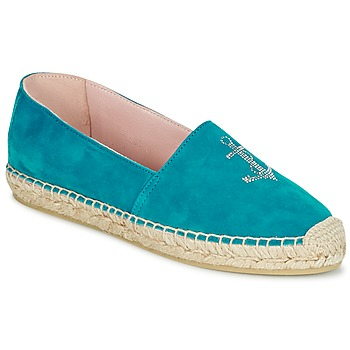 Shoes Women Espadrilles Pretty Ballerinas ANGELIS Turquoise