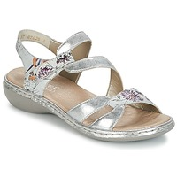 Shoes Women Sandals Rieker JOUTOUR Silver