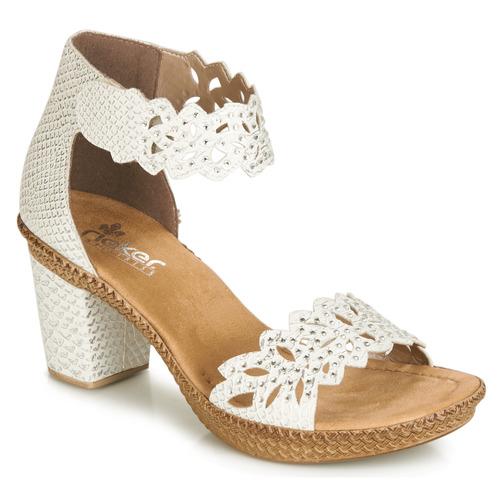 Shoes Women Sandals Rieker BELALIER White