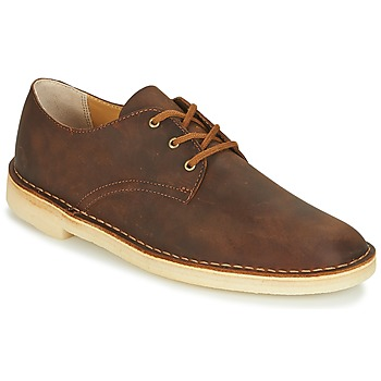 Shoes Men Derby shoes Clarks DESERT CROSBY Brown