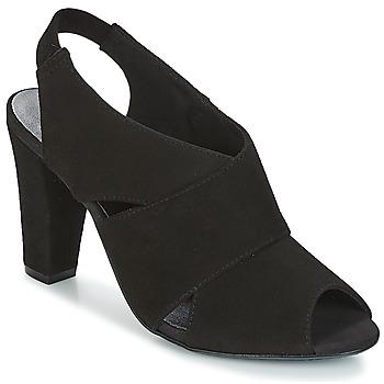 Shoes Women Sandals KG by Kurt Geiger FOOT-COVERAGE-FLEX-SANDAL-BLACK Black
