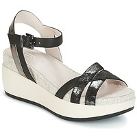 Shoes Women Sandals Lumberjack BLANCHE Black / Silver