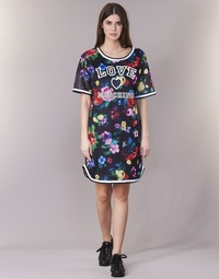 material Women Short Dresses Love Moschino W5A0302 Black / Multicoloured
