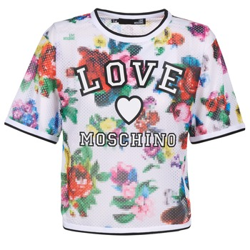material Women Blouses Love Moschino W4G2801 White / Multicolour